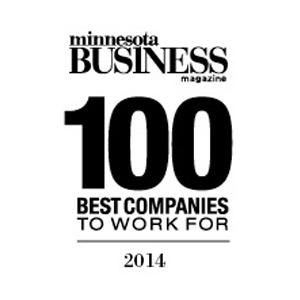 Minnesota Business Magazone 100 Best companies to work for logo 2014