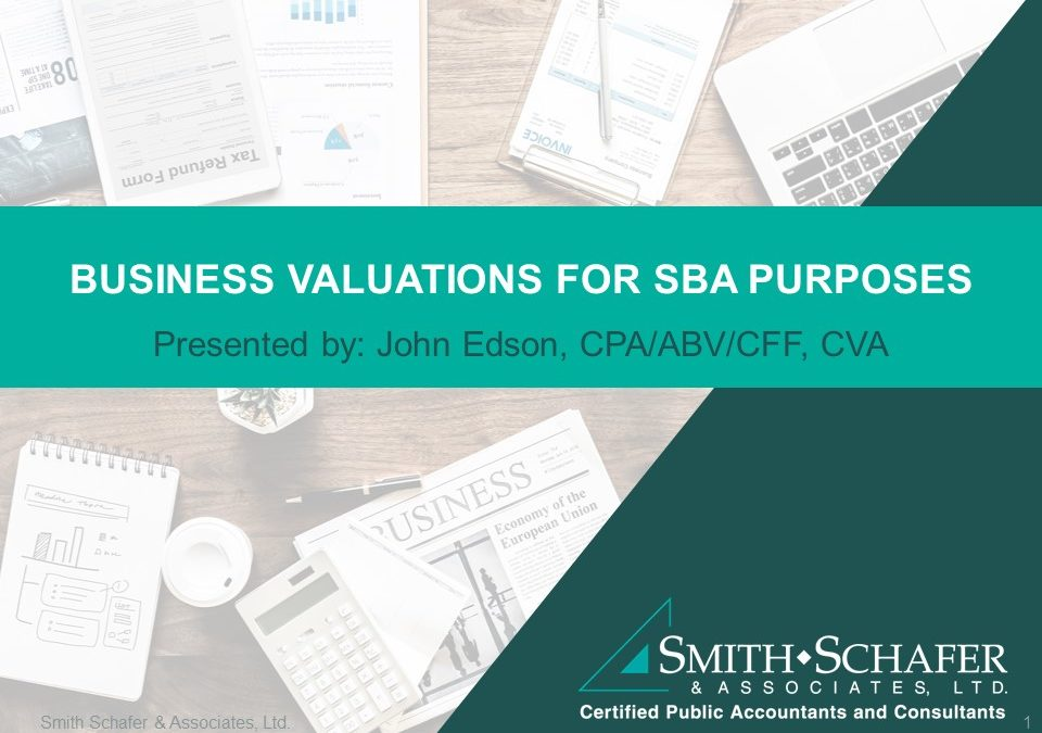 SBA Valuations Presentation Header