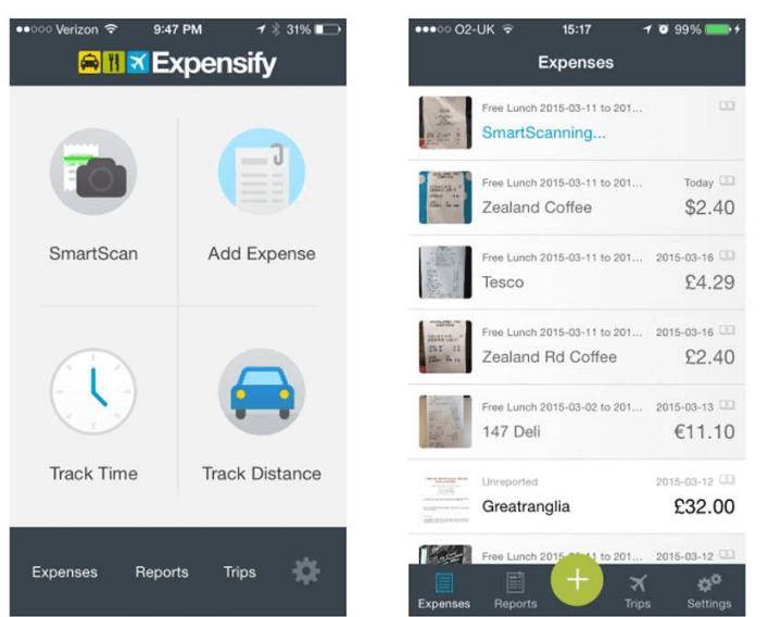 Expensify software screenshot