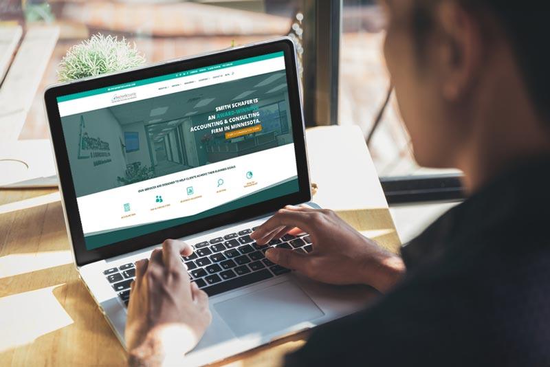 Smith Schafer Website on laptop