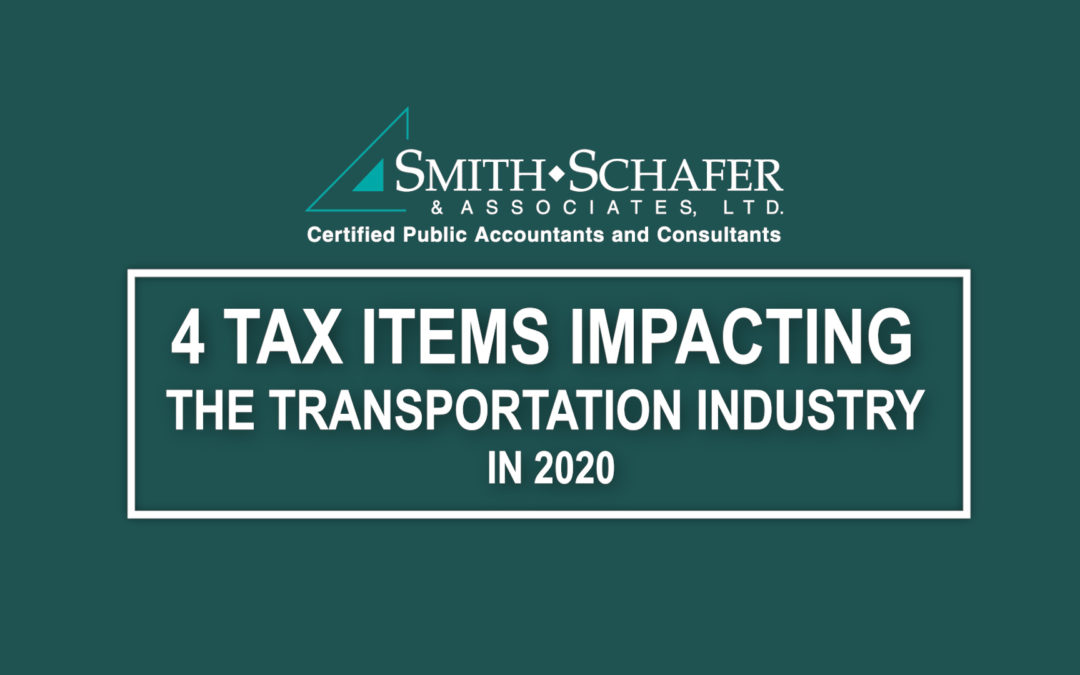 Main slide image 4 tax items impacting the transportation industry