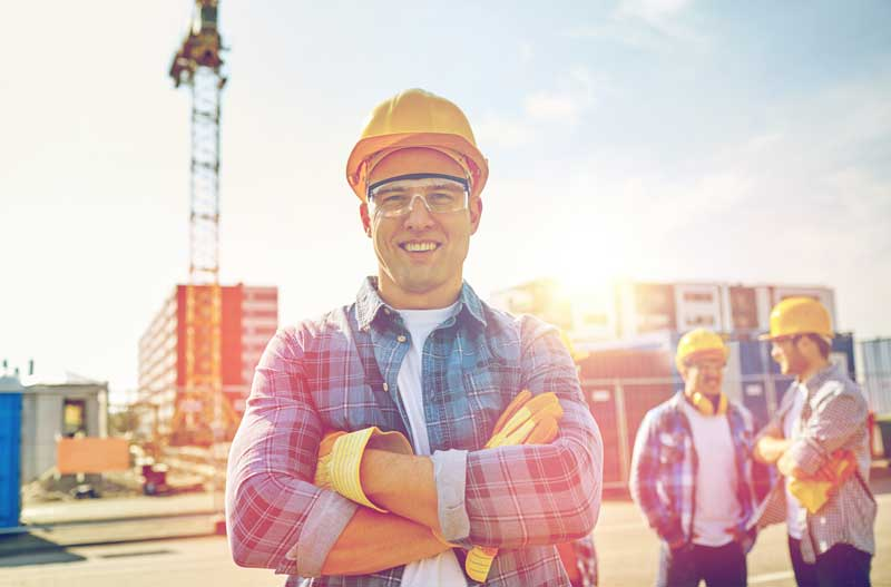 Construction labor crew