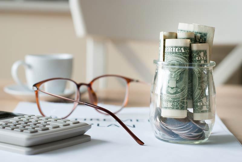 Glasses calculator and retirement savings