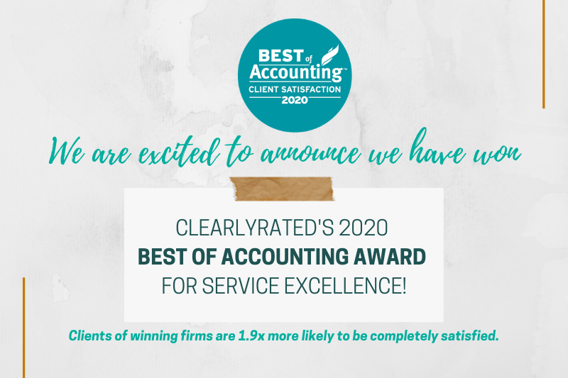 Smith Schafer Earns ClearlyRated's 2020 Best of Accounting Award for Client Service Excellence