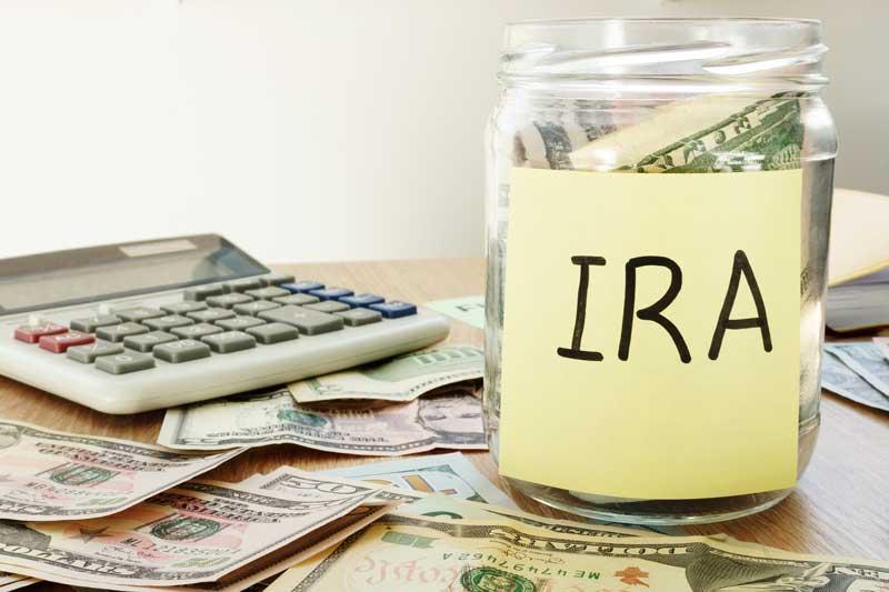 IRA savings in jar