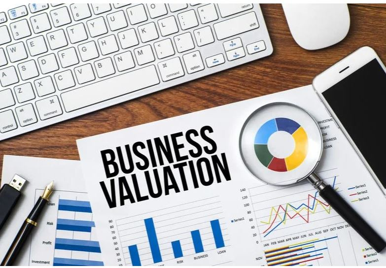 business valuation flat lay